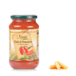 Tomatenfilets mit frischem Basilikum 550 g