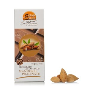 Barretta Cioccolatte Mandorle Pralinato 85g