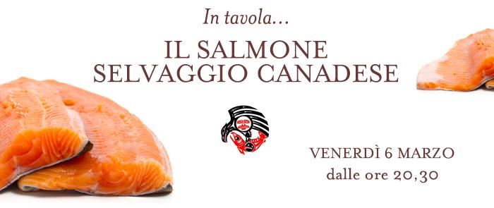 La cena sul salmone canadese