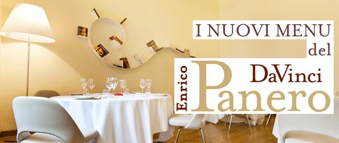 I nuovi menu del Da Vinci