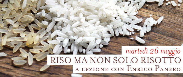 Corso di cucina con Enrico Panero: il riso