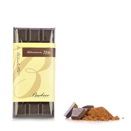 75% Cocoa Tanzania Dark Chocolate Bar 100g