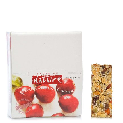 Organic Cranberry Bar 40 g 16 pcs