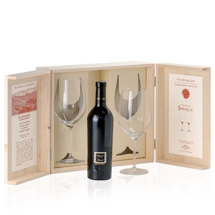 Serralunga d'Alba Barolo Docg 2008 0.5l + 2 Spiegelau crystal wineglasses