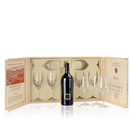 La Lepre Dolcetto di Diano d'Alba Doc 2011 1.5l + 6 Spiegelau crystal wineglasses