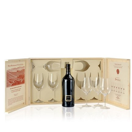Briccotondo Piemonte Barbera Doc 2011 1.5l + 6 Spiegelau crystal wineglasses