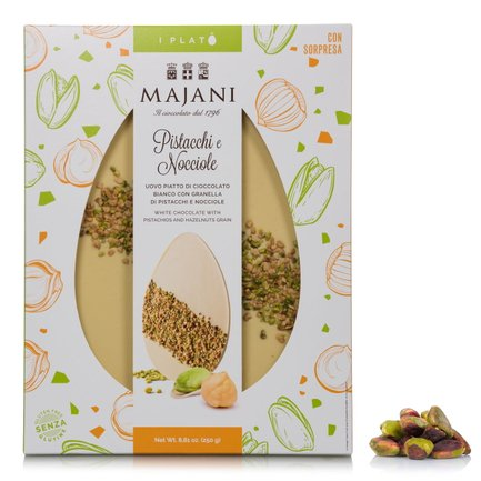 White Chocolate, Pistachio and Hazelnut Platò  250g