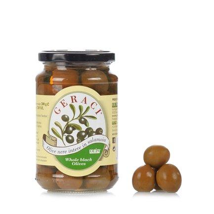 Whole Black Olives in Brine 200g