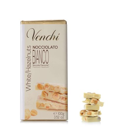 Hazelnut White Chocolate Bar 100g