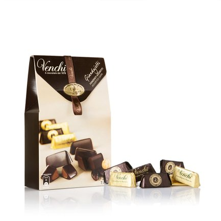 Assorted Dark Chocolate Giandujotti Carton Pack  200gr