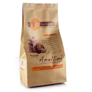 Rice, Chocolate and Coffee Anellini Biscuits 250g