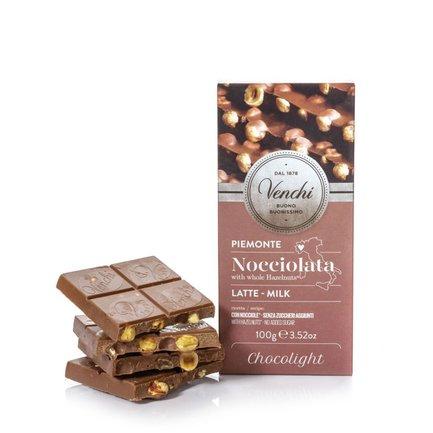 Tablette de chocolat au lait aux noisettes 100 g