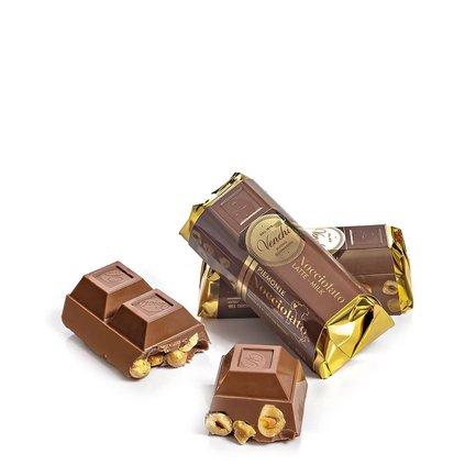 Bloc de chocolat au lait aux noisettes 150 g