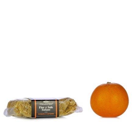 Fleur de sel à l'orange et à la lavande 160 g