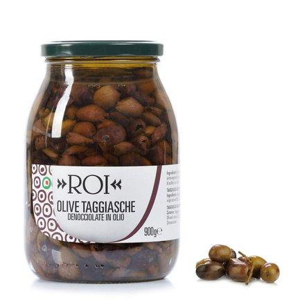 Olives taggiasca dénoyautées à l'huile 0,9 kg