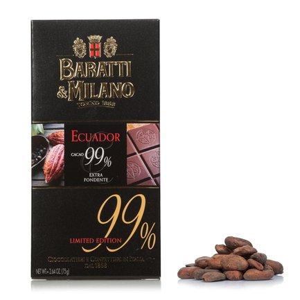 Chocolat Extra Noir Équateur 99%  75g
