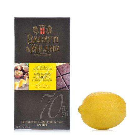 Gingembre au chocolat noir et citron 75g