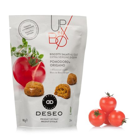 Biscuits salés à la tomate et à l'origan 80g