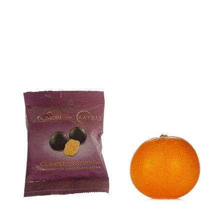 Cubes d'orange enrobés de chocolat 50 g