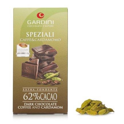 Tablette de chocolat Noir 62 % café cardamome 80 g