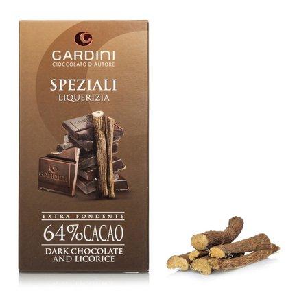 Chocolat Noir 64 % réglisse 80 g