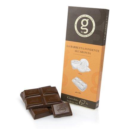 Tablette de chocolat noir 67% orange 75g