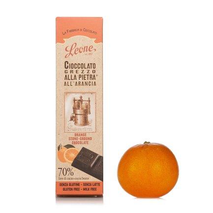 Tablette de chocolat brut à l'orange  55g