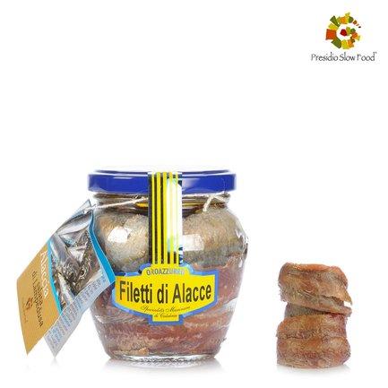 Filets d'allache à l'huile d'olive extra vierge 200g