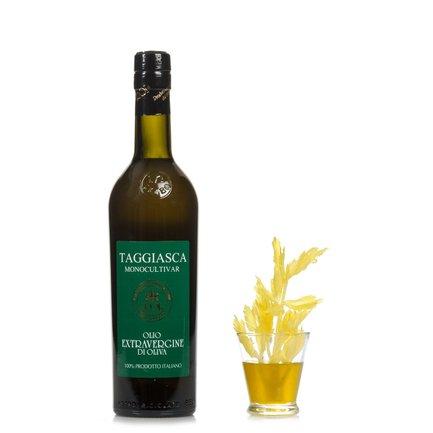 Huile d'olive vierge extra mono-variétale taggiasca bouteille estampillée 0,5 l