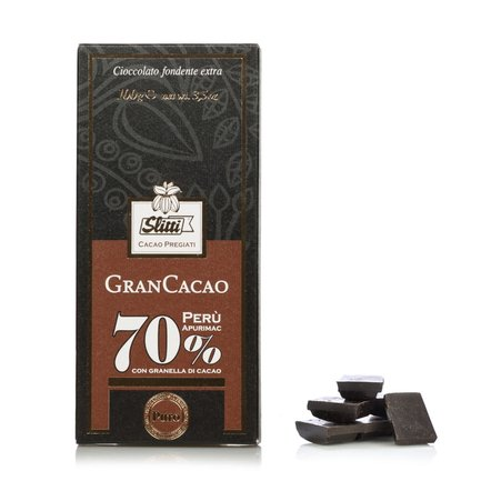 Tablette Gran Cacao chocolat noir extra Perou 70 % 100 g