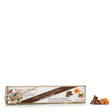 Chocolat noir noisettes orange 200g