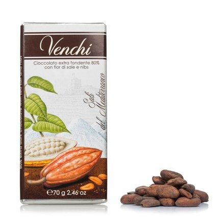 Chocolat noir Fleur de sel 80 % fumée 70 g