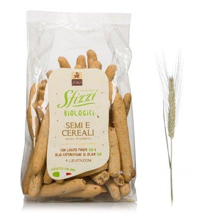 Gressins Sfizzi graines et céréales biologiques 200g 200g