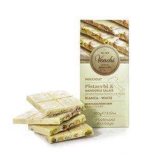 Barre de chocolat blanc aux pistaches  100g