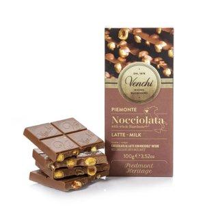 Tablette de chocolat au lait aux noisettes Nocciolato  100g