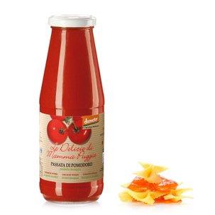 Purée de tomates biologique au basilic 700g