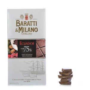 Tablette de chocolat noir d'Équateur 75 % 75 g