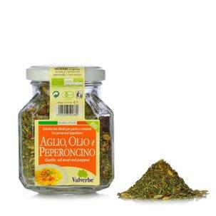 Aromates pour ail, huile et piment bio 60 g