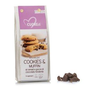 Mélange pour cookies et muffins aux céréales et pépites de chocolat 400g