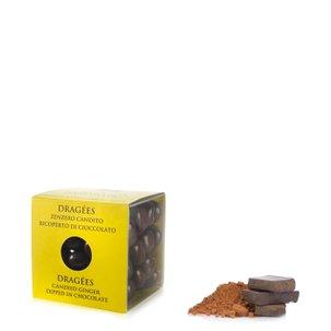 Dragées au gingembre confit enrobé de chocolat noir 120g