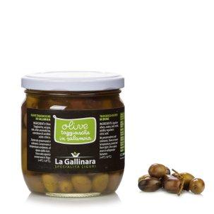 Olives de la variété taggiasca en saumure 250g