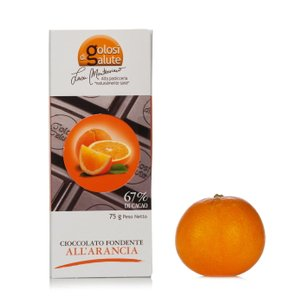 Tablette de chocolat noir 67 % orange 75 g