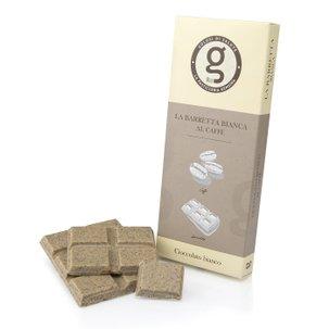 Tablette de chocolat blanc au café 75g