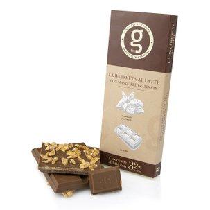 Tablette de chocolat amandes pralinées 85g