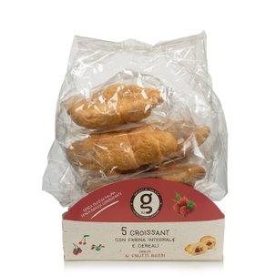 Croissants à la farine intégrale aux fruits rouges 5pièces 200g