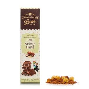 Tablette de chocolat au lait aux noisettes IGP entières  55g