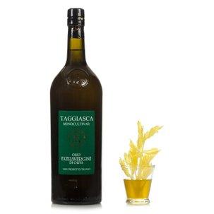 Huile d'olive vierge extra mono-variétale taggiasca bouteille estampillée 1l