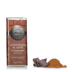 Tablette de chocolat au lait allégée 45 g