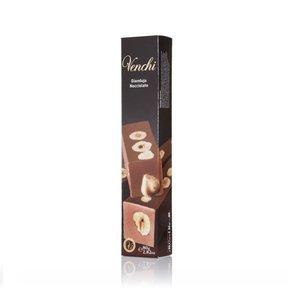Barre de chocolat au lait gianduja noisettes 80 g