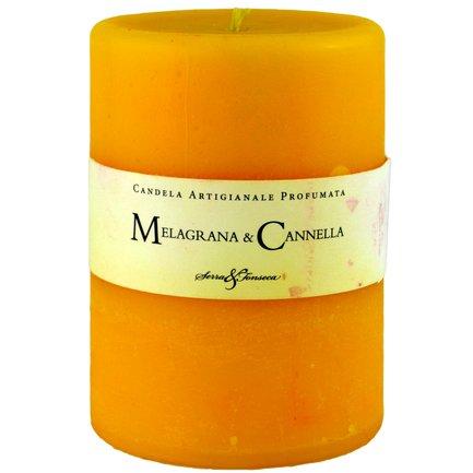 Mittelgroße Kerze Granatapfel und Zimt